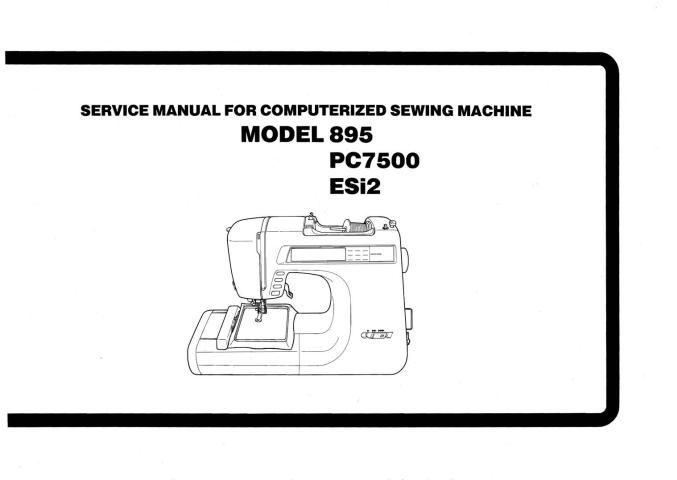 Brother 895-PC7500-ESi2 Sewing Machine Service-Parts