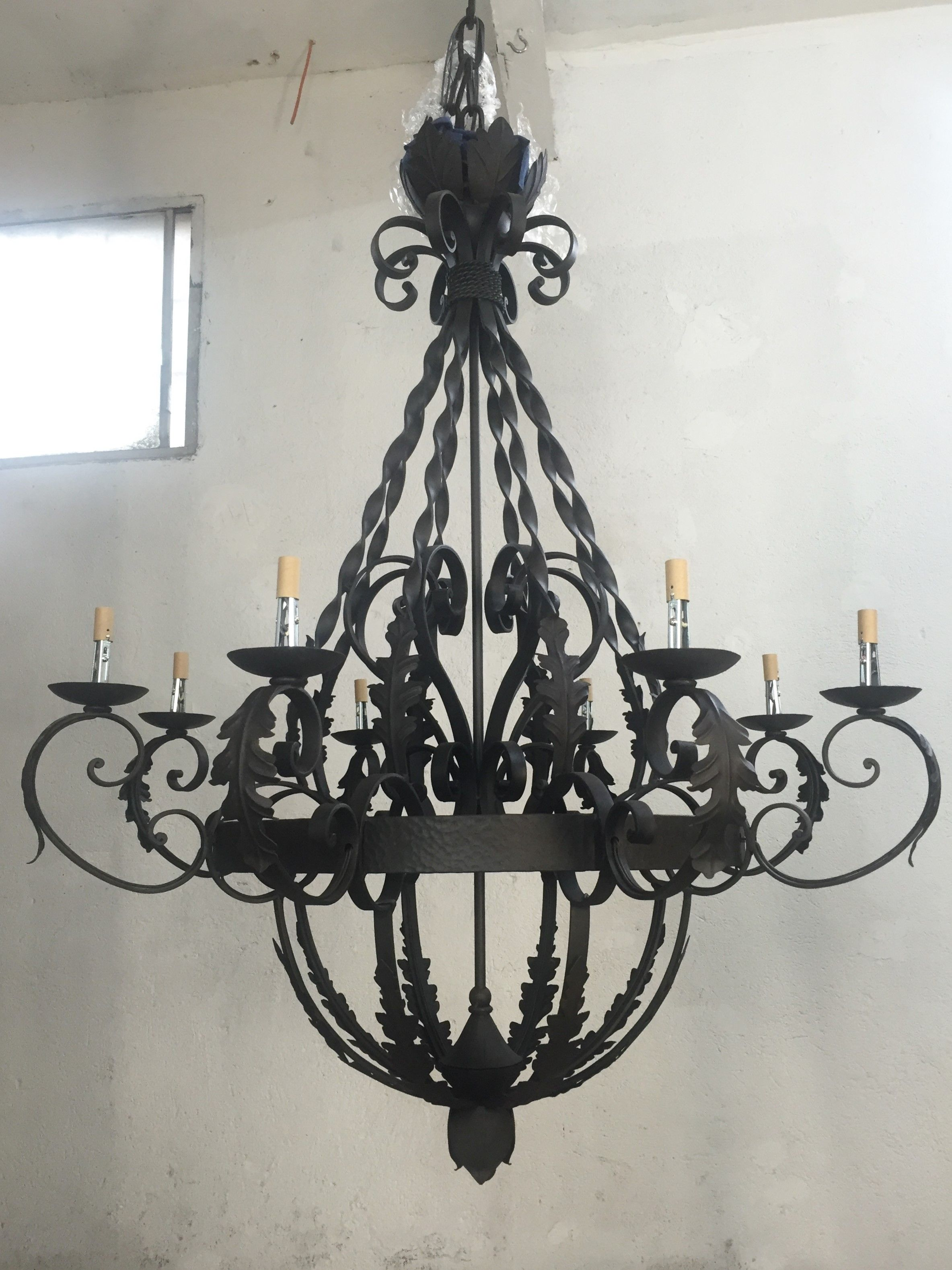Hand forged iron custom chandelier by haciendalights iron hand forged iron custom chandelier by haciendalights arubaitofo Image collections