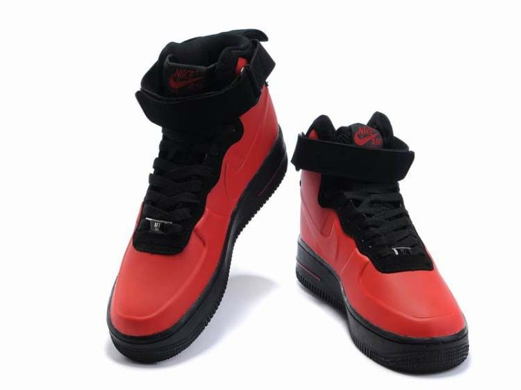 fbe6af44a4d Force2412 Nike Air Force 1 High Foamposite Red Black
