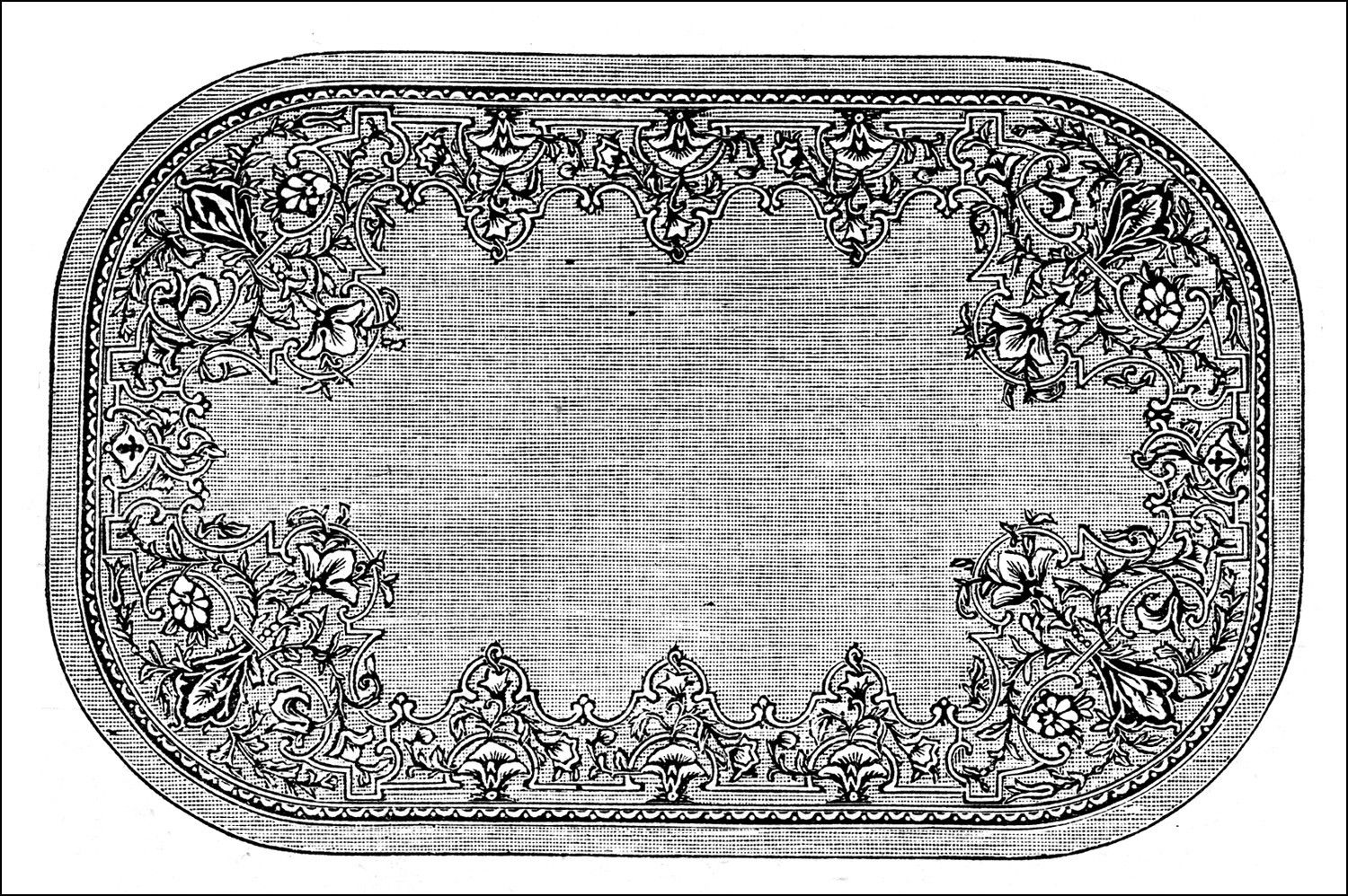 Beau Victorian Bathroom Rugs