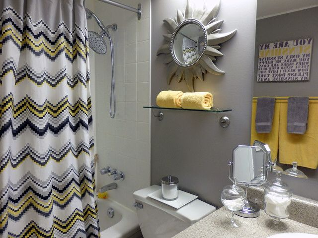 Grey And Yellow Bathroom   Contemporary   Bathroom   Toronto   Dominika  Pate Interiors