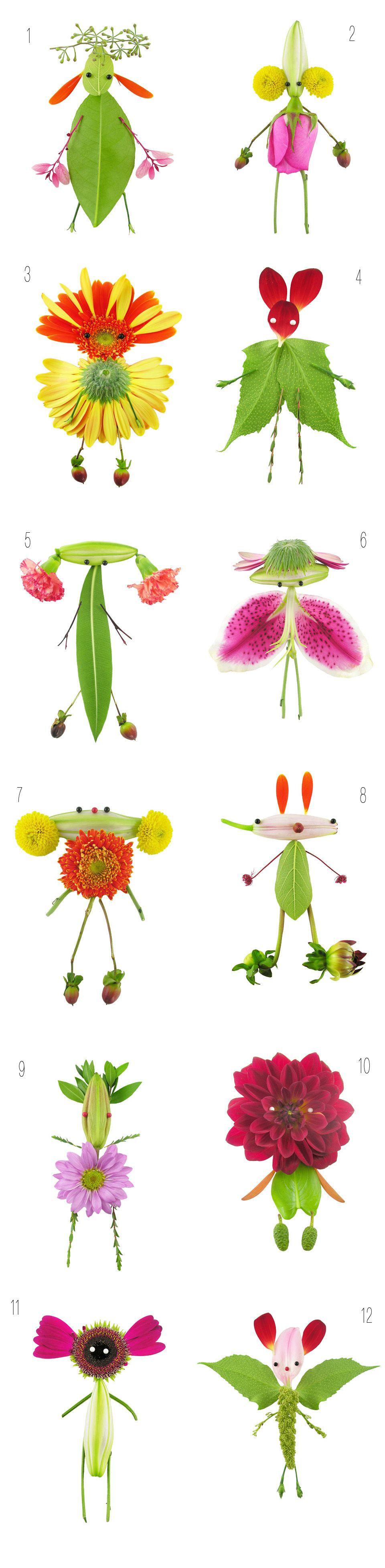 Elsa mora art is a way fresh flower characters