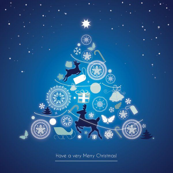 Snowing christmas card vector graphic merry christmas the snowing christmas card vector graphic merry christmas the detailed gorgeously shaded christmas tree reheart Image collections