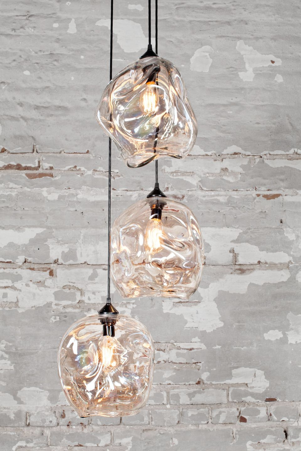Infinity Pendant By John Pomp Studios Hand Blown Glass Bronze - Cool suspended lamps shaped like houses
