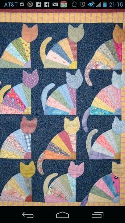 Free Fat Cat Quilt Patterns Cat Quilts Patterns Cat Quilt