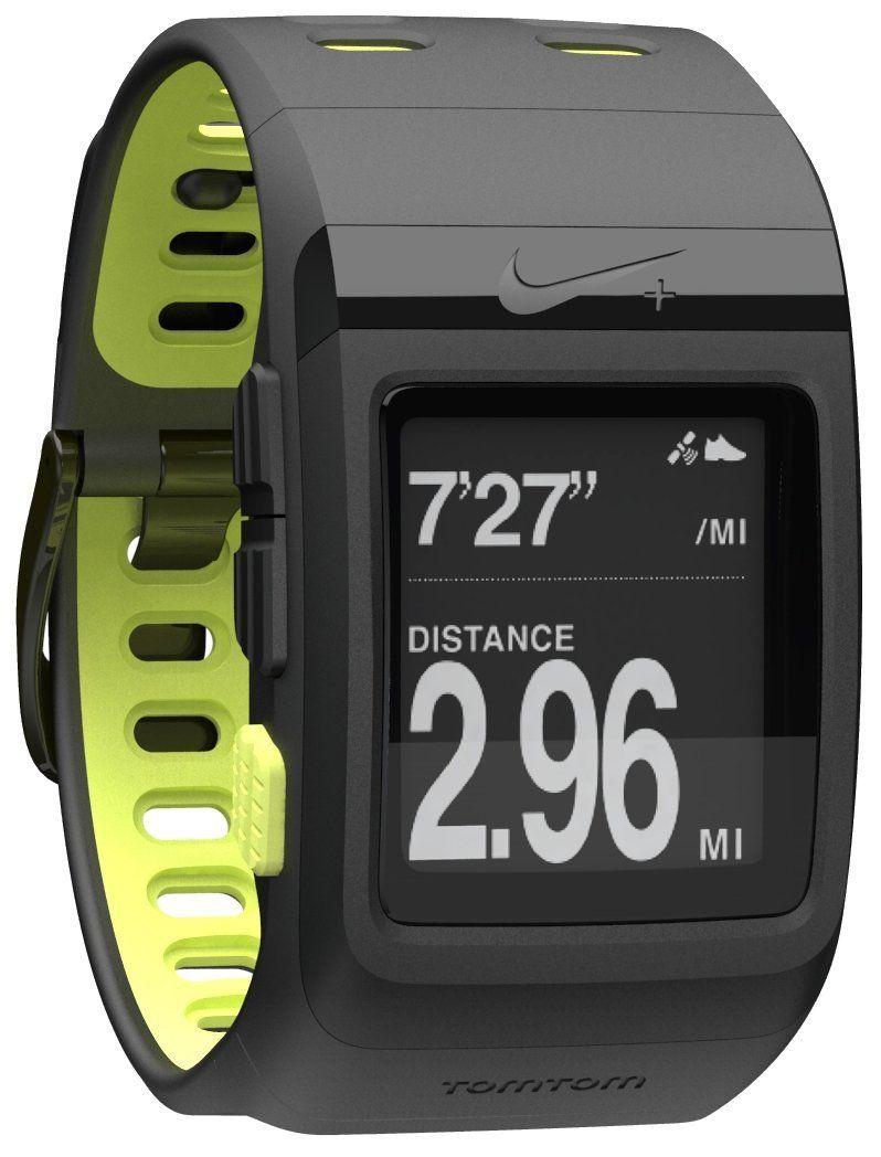 fd9fa6e7d Nike+ SportWatch GPS Powered by TomTom (Black/Volt) | Wearable Tech ...