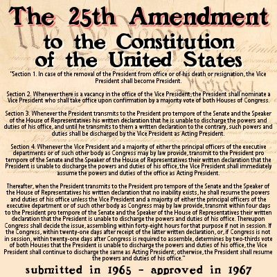 25th Amendment To The U S Constitution Government Politics American Constitution President Quotes