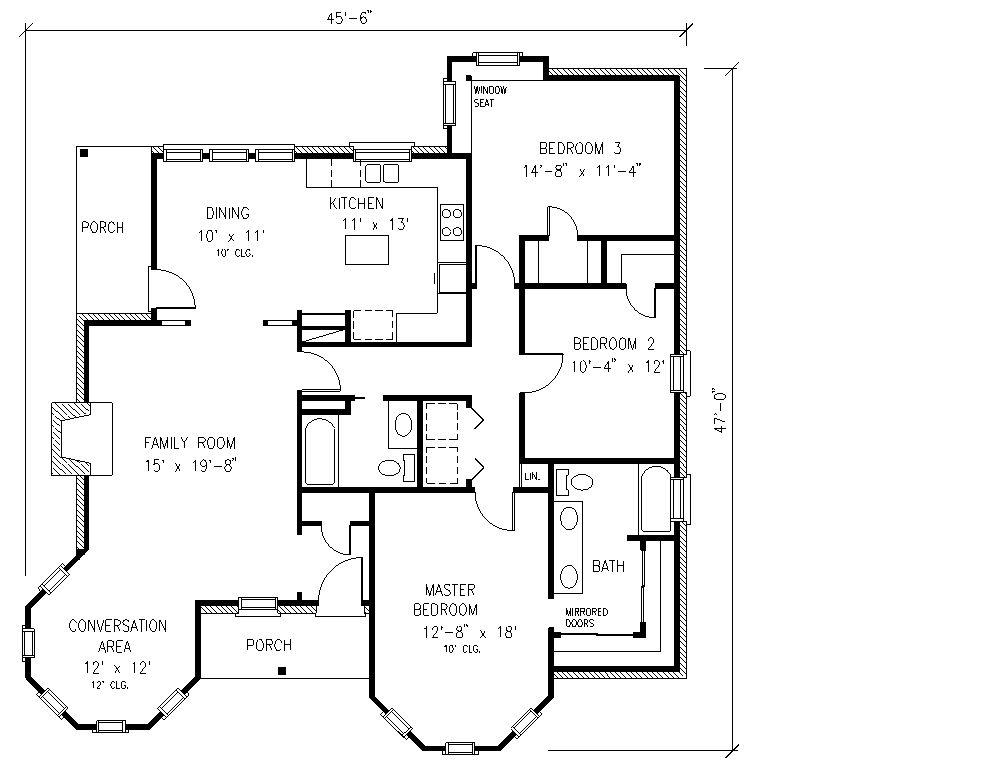 Plano de una casa de tres dormitorios planos de casas modernas peque as grandes rusticas - Planos de casas rusticas ...