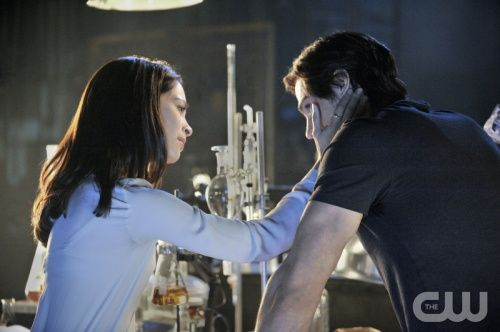 """sweet moment ... BEAUTY AND THE BEAST  """"Pilot""""  Pictured (L-R): Kristin Kreuk as Catherine and Jay Ryan as Vincent.  Photo Credit: Ben Mark Holzberg/The CW.  Image Number: BB100c_0162b.jpg.  © 2012 The CW Network, LLC. All rights reserved."""