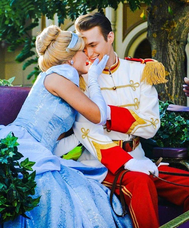 Cinderella And Her Prince Charming At Disneyland Paris