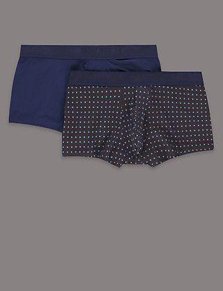 M/&S 2 PAIRS Mens//Boys PURE 100/% COTTON Jersey Boxer Shorts Colour mix