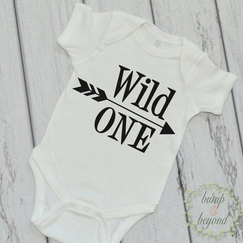 First Birthday Shirt Wild One Baby Boy Arrow Year Old Hipster Bodysuit READY TO SHIP 024