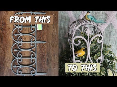 DOLLAR TREE DIY SHABBY CHIC FARMHOUSE BIRDCAGE