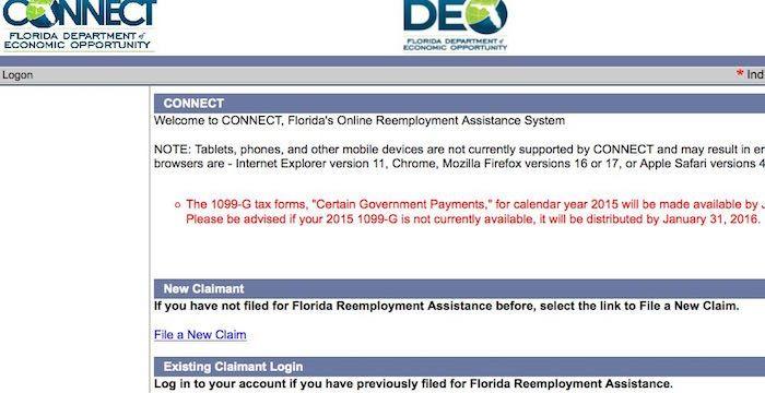 Florida Unemployment Login Connect Myflorida Com Unemployment