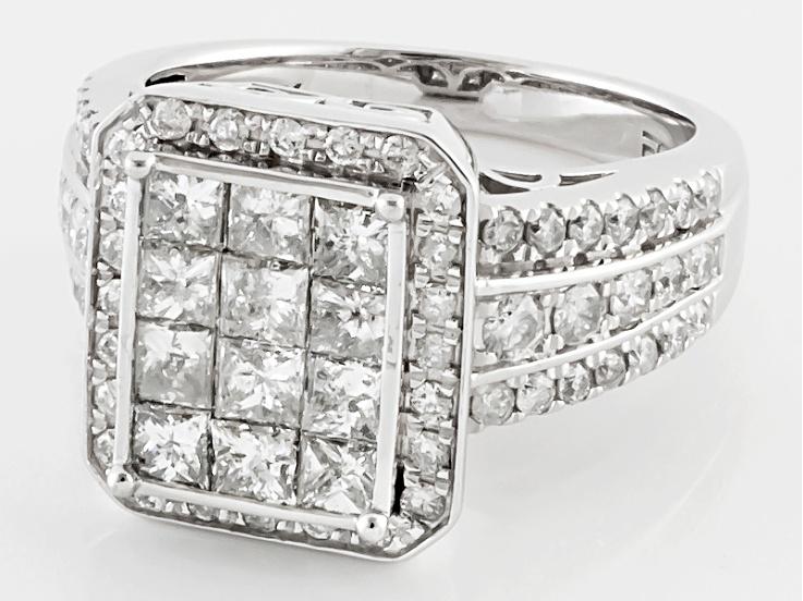 Diamond 10k White Gold Ring 2 00ctw White Gold Rings White Gold Gold Rings
