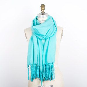 Spiral Fringe Wrap Turquoise now featured on Fab.