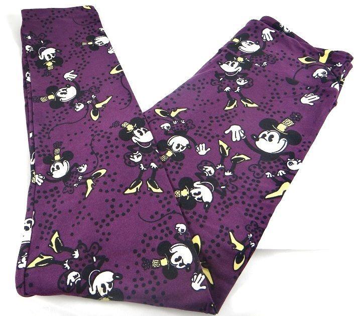 Lularoe TC Leggings Turquoise Polka Dot Purple Background
