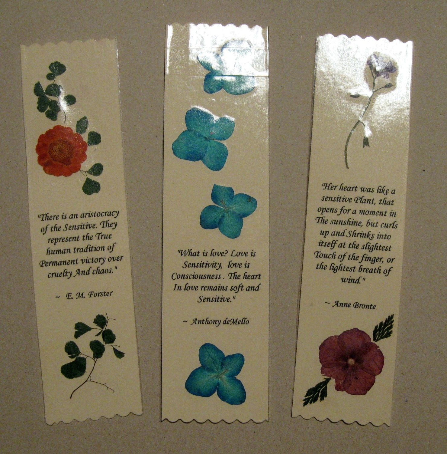 Pressed flower bookmarks add quotes from one of the songs played items similar to pressed flower bookmarks 3 for 1000 examples on etsy izmirmasajfo