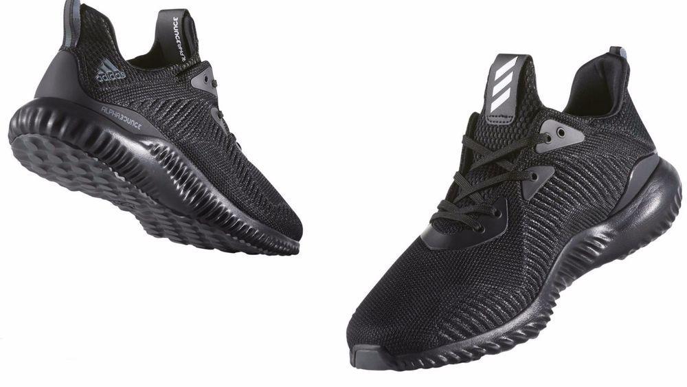 7e20202f250de Men's ADIDAS ORIGINALS Alpha Bounce 1 BLACK/BLACK BW0539 #adidas #BW0539