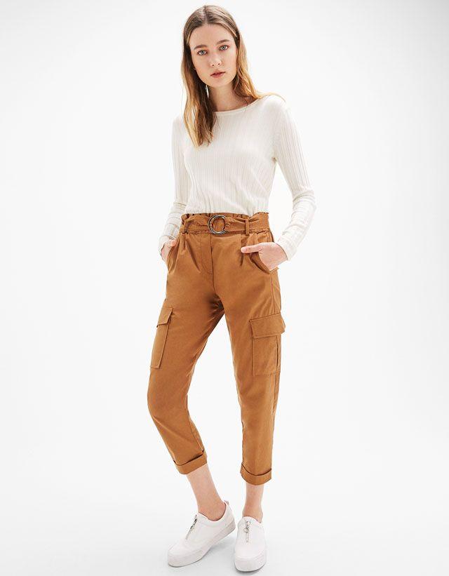 pantalons pour femme bershka printemps t 2017 pants trousers women trousers et pants. Black Bedroom Furniture Sets. Home Design Ideas