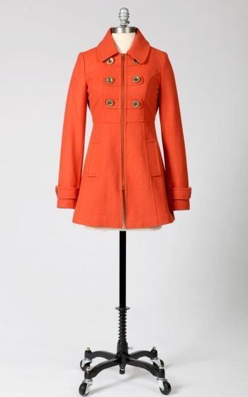 I LOVE this coat.  I would probably go for the birch color, but I especially love that is has a zipper and not buttons - buttons tend to let cold air in for me.