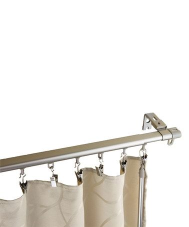 Loving This Silver Armor Adjustable Curtain Track Set On Zulily
