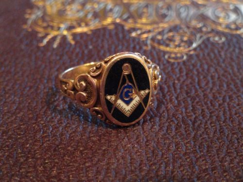 Details About Vintage Men S 10k Yellow Gold Masonic Diamond Ring Szie 8 5 Mason Ring Gold Rings Vintage Rings