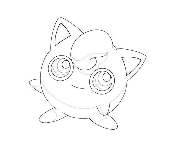 jigglypuff coloring page print