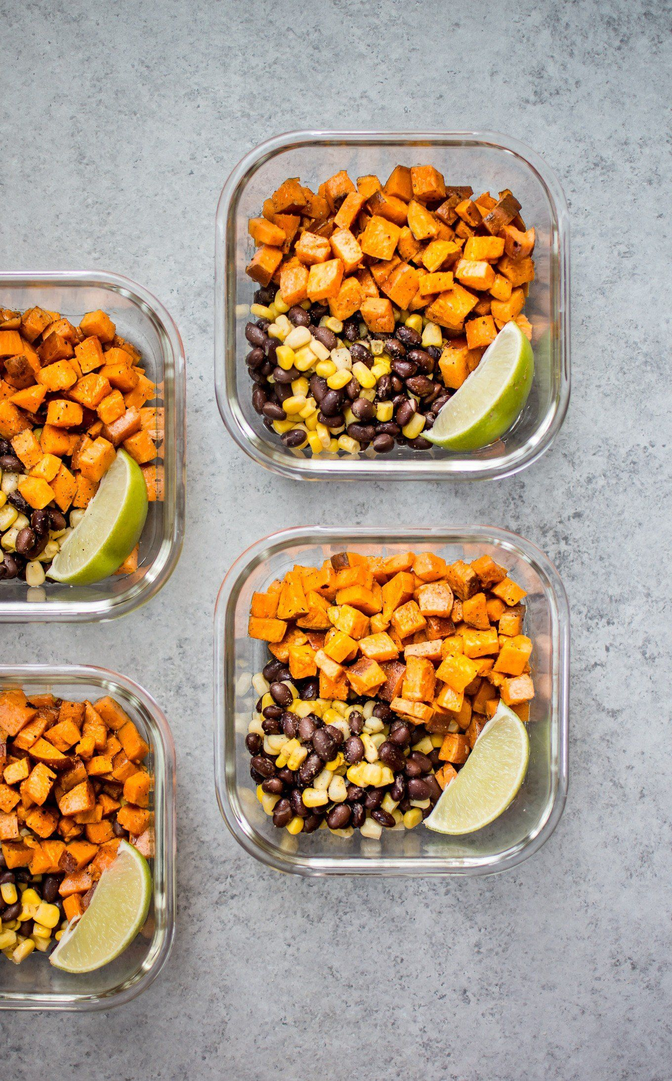 Southwest Sweet Potato Vegan Meal Prep Bowls