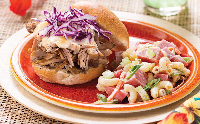 Traditional Hawaiian Macaroni Salad A Common Side Dish Served
