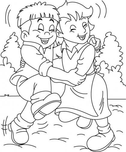 Free Coloring Pages Friendship Day