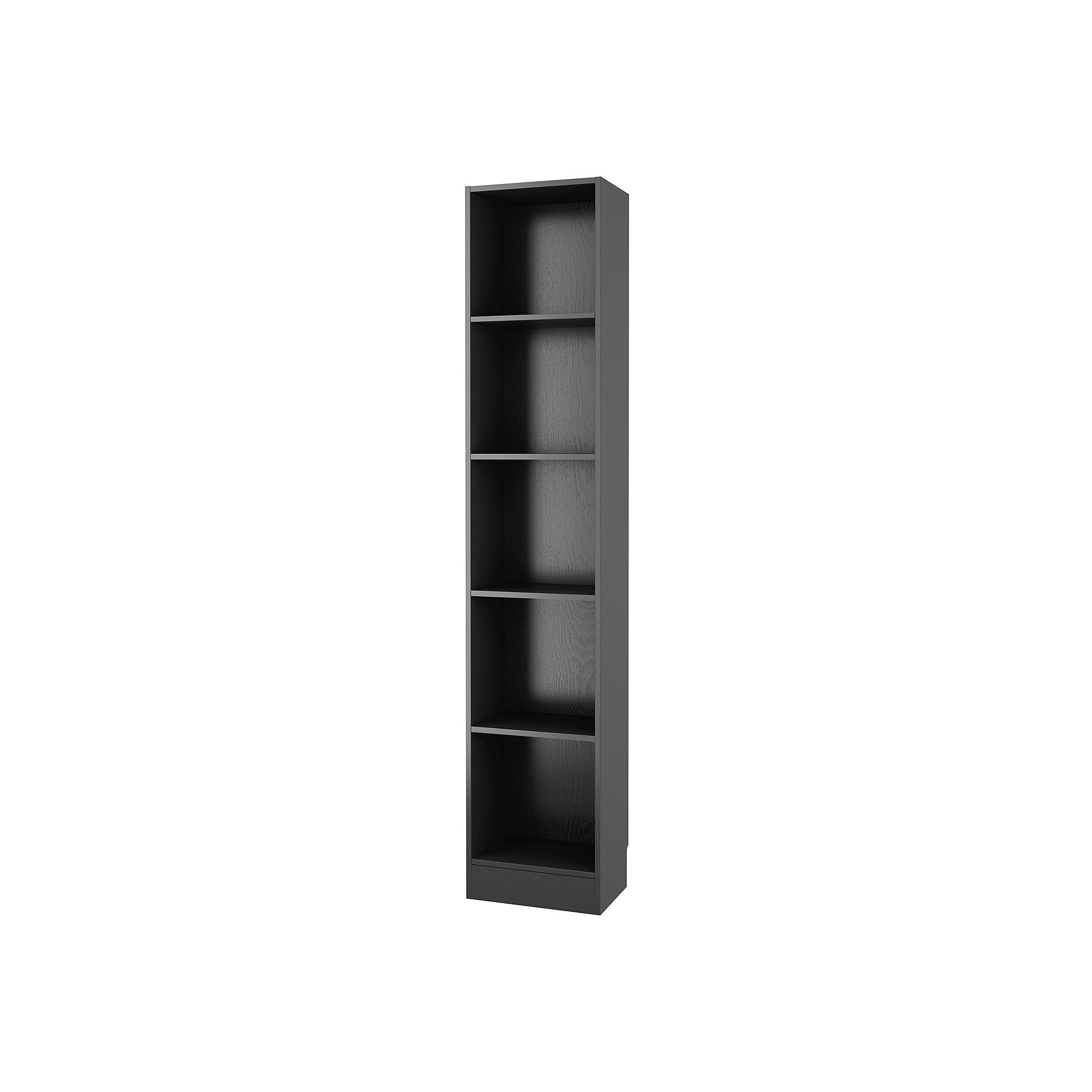 Tvilum Element Tall 5 Shelf Bookcase Black