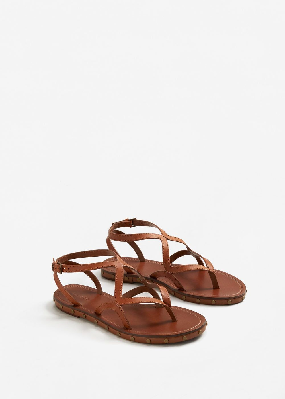 df6fdfd81 Leather straps sandals - Women | Shoes...because duh. | Studded ...