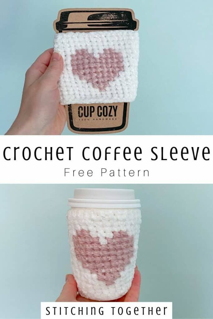 Here's my Heart Crochet Coffee Sleeve | Stitching Together