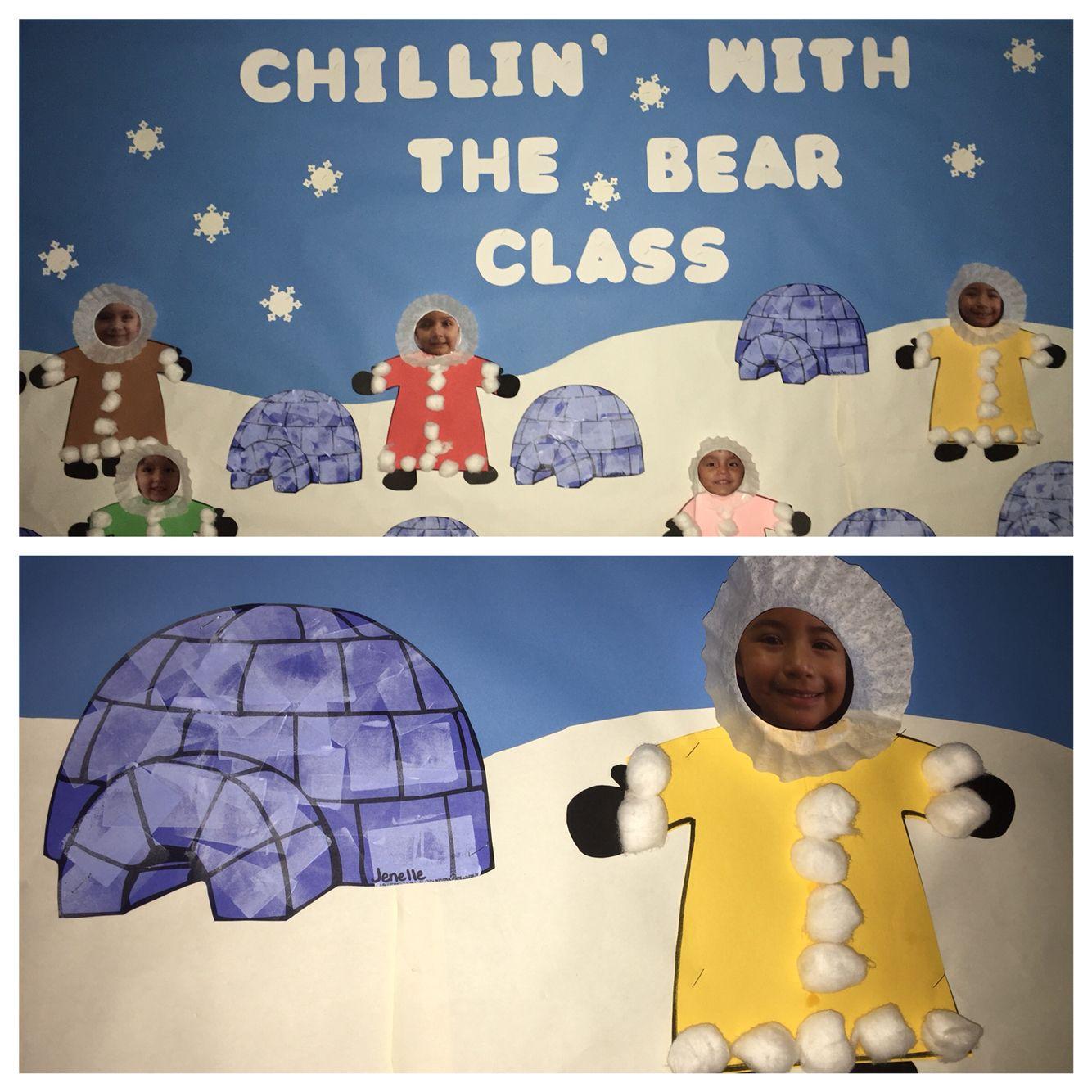 Eskimo Bulletin Board Winter Preschool Crafts Art