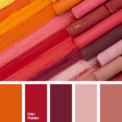 Color Palette #2054. Combination ColorsColor CombinationsWarm Color Schemes Red And PinkOrange ...