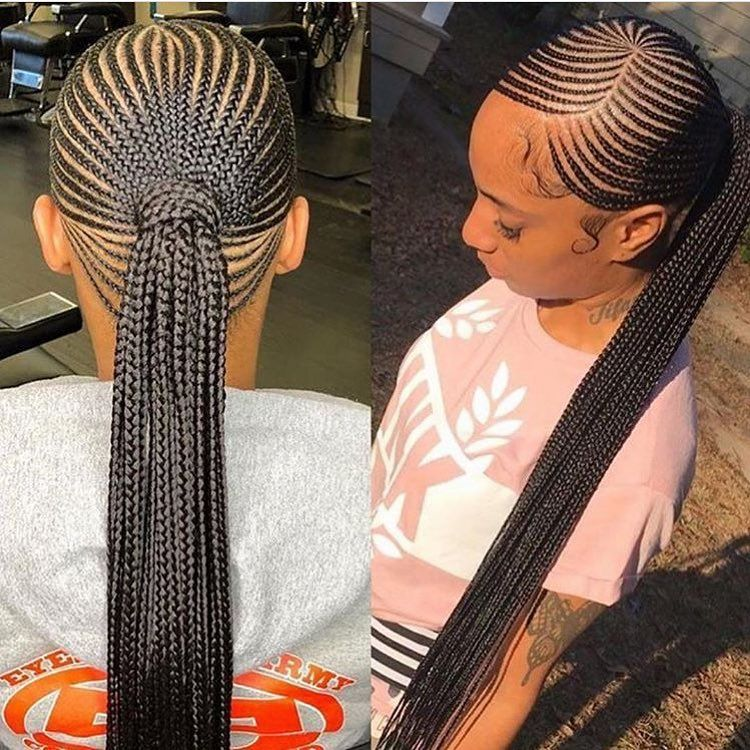 Rate This Braids Awesome Big Cornrows Hairstyles Braided Ponytail Hairstyles African Hair Braiding Styles