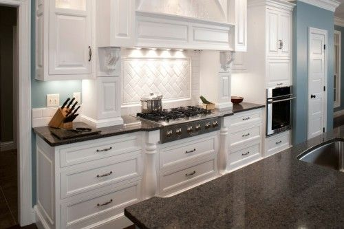 White Cabinets With Dark Quartz Countertops Yep This Is It