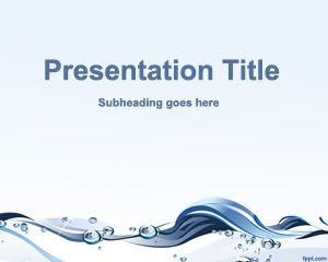 Free Powerpoint Template For Water Conservation Presentations