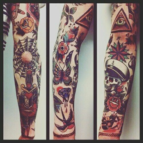 Dagger And Rose Placement Negative Space Traditional Tattoo Sleeve Traditional Tattoo Tattoo Sleeve Designs