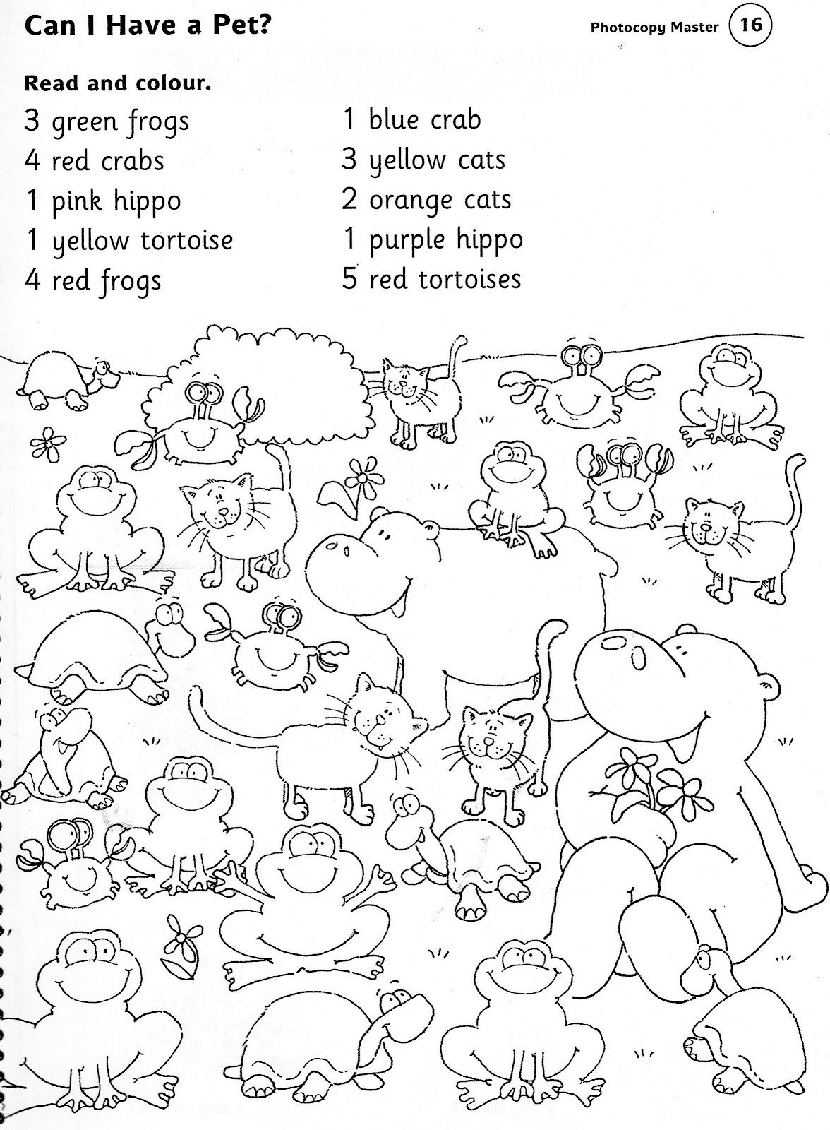 If they have done number colour and animals Change the english – Animal Worksheets