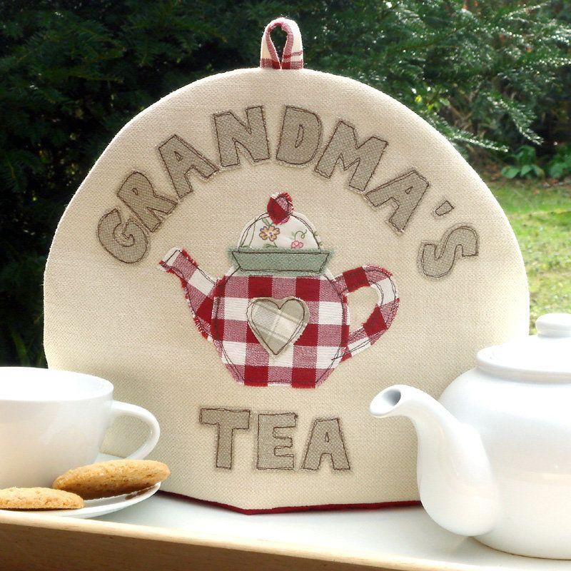 Personalised Embroidered Tea Cosy | Teteras, Cafetera y Apliques