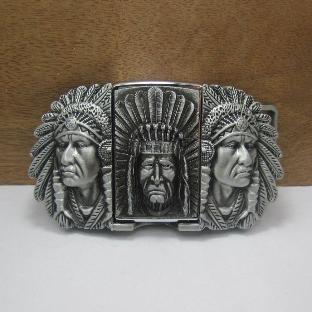 Détails sur Mens Removable Indian Pattern Belt Buckle with