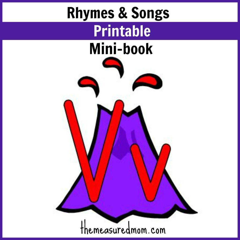 Workbooks volcano worksheets for kids : Rhymes & Songs for Letter V: Little Letter V Book | Songs, Rhymes ...