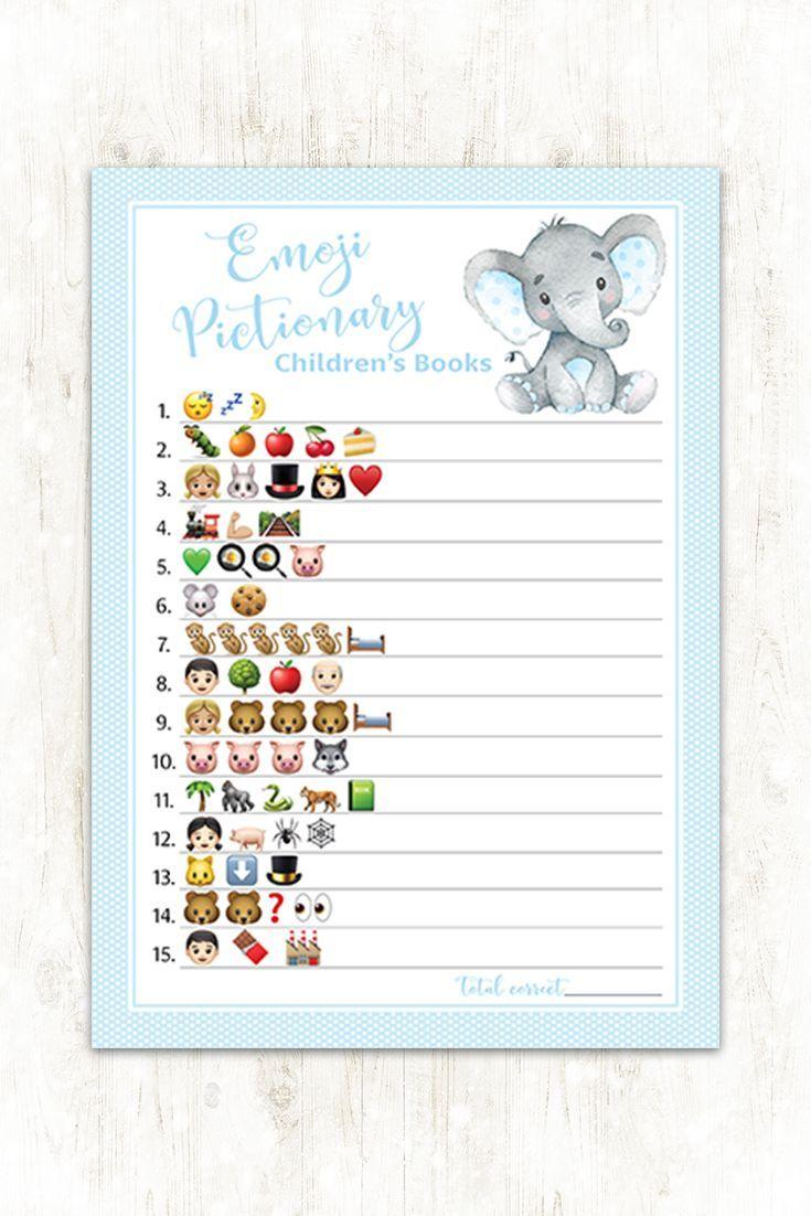 PRINTED Emoji Game Blue Elephant Ontwerp voor jongensbaby ...