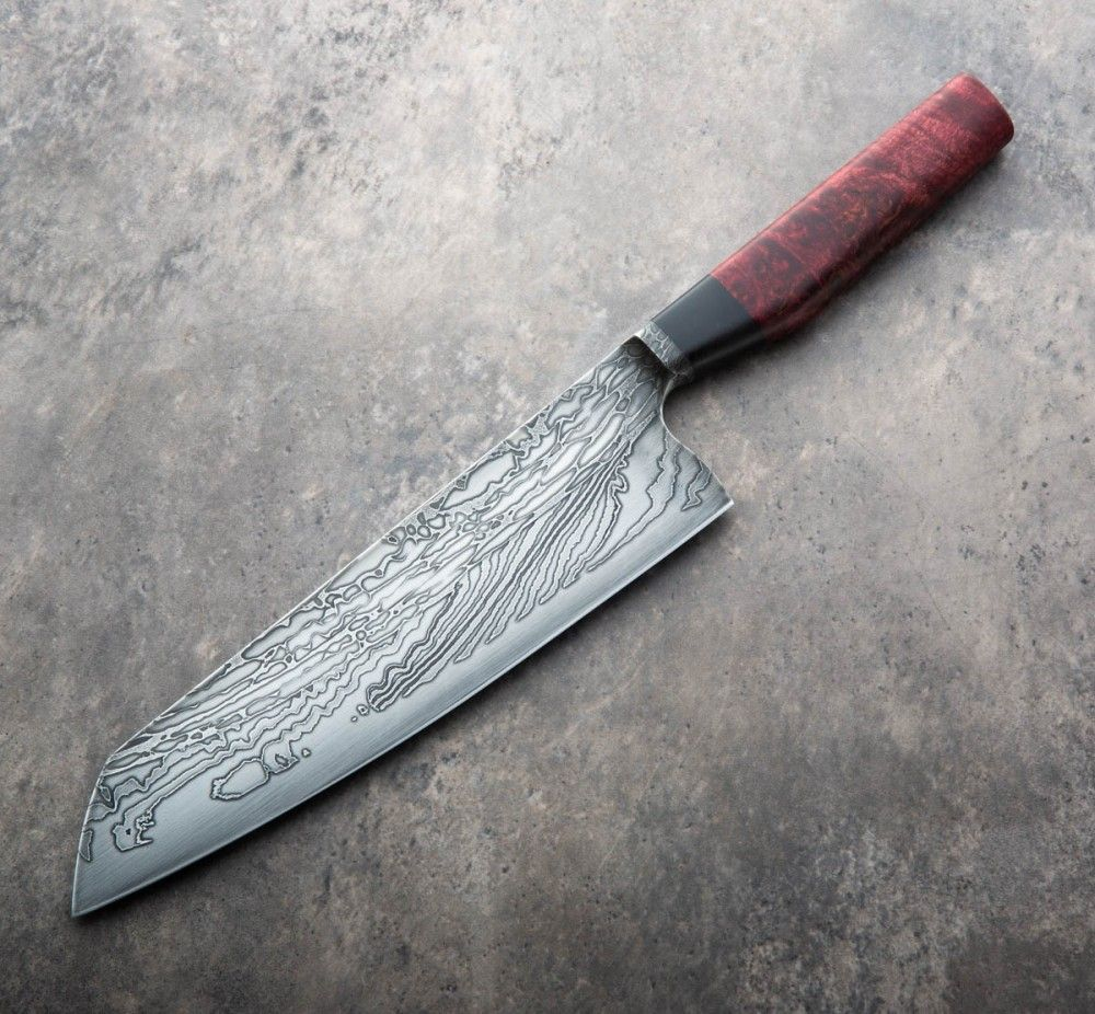 Küchenmesser Material Red Maple Damascus Chef 235mm Custom Chef Knives Cuchillos