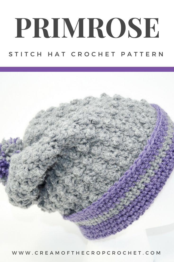 EASY HAT PATTERN: Primrose Stitch Hat Crochet Pattern; Get ready for ...
