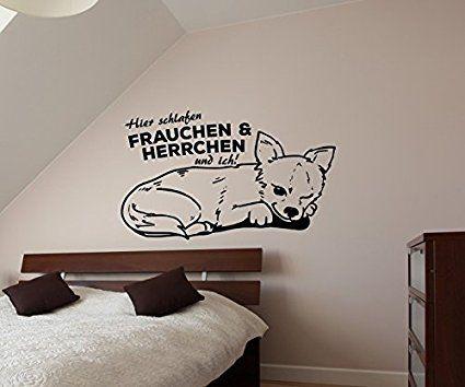 Wandtattoo Chihuahua Spruch hier schlafen Frauchen  ich sticker