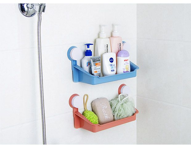 Doudou Strong Double Suction Cup Bathroom Glass Shelf Bathroom Shelf  Bathroom Toilet Bathroom Shelf Storage Rack