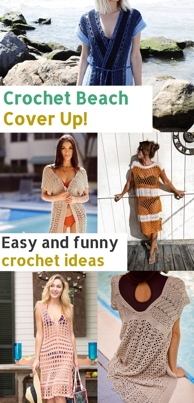 Crochet Beach Cover Up Free Patterns And Easy Ideas Crochet Beach Wear Crochet Beach Wear Pattern Crochet Bathing Suit Cover